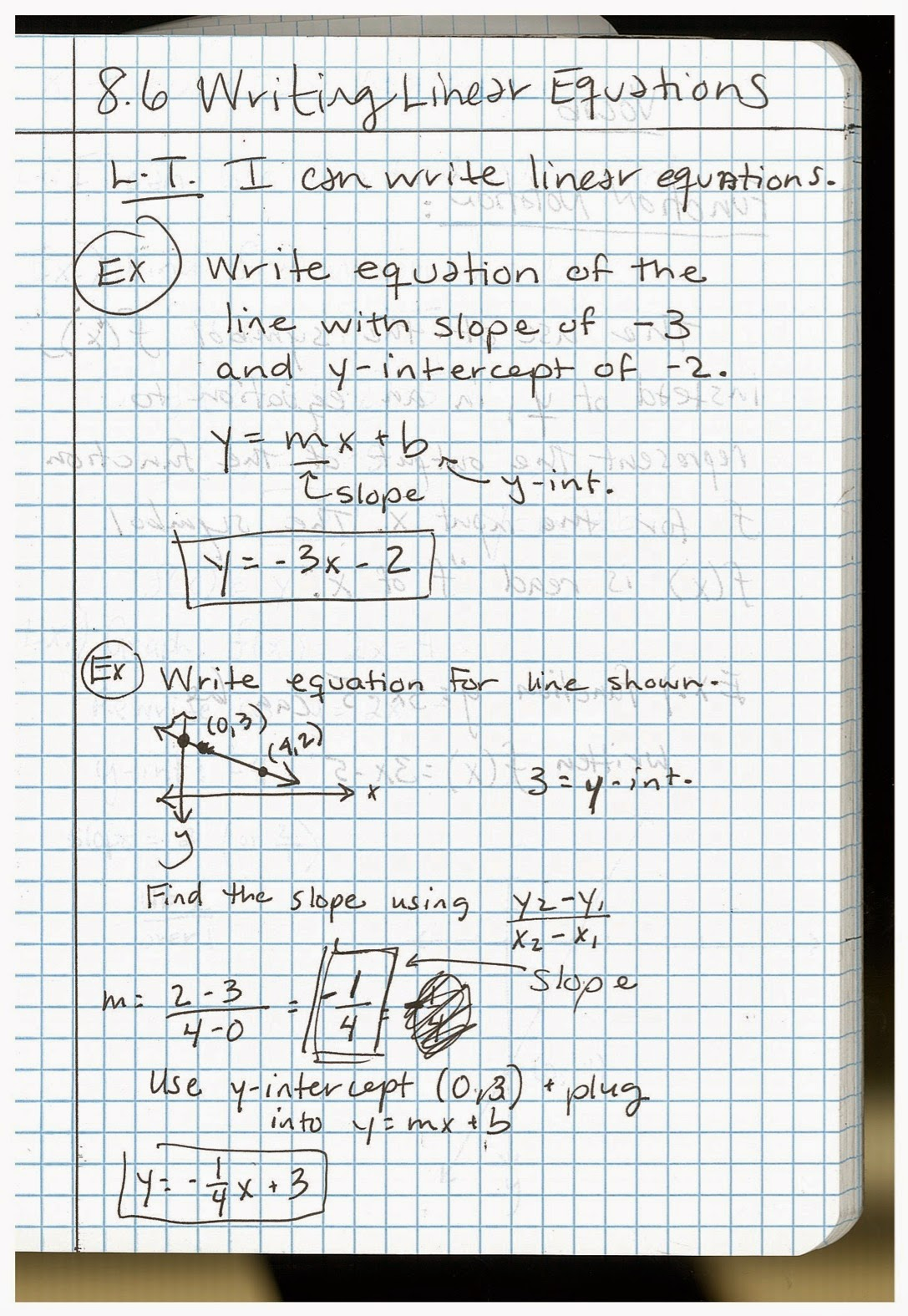 8.6Notes  Th Grade Pre Alge Math Book Online on