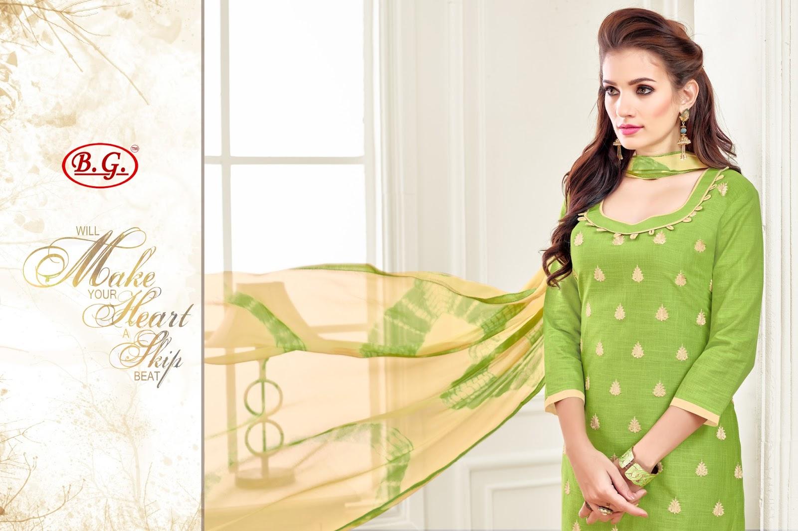 Kavvya 76 – Designer Stylist Embroidored Linen Slub Salwar Suit