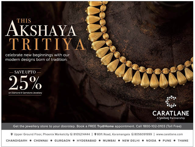 CARTLANE Akshaya Tritiya Gold and Jewellery Offers @Bangalore | April /May 2017 discount offers