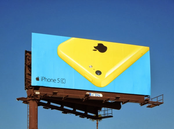 Yellow blue iPhone 5c wave 2 billboard