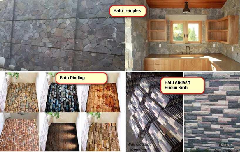 Motif Batu Alam untuk tema rumah minimalis