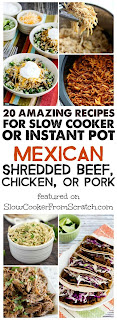 Recipes for Slow Cooker or Instant Pot Mexican Shredded Beef, Chicken ...