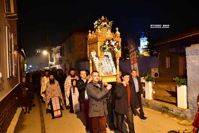 Γιόρτασαν τα Εισόδια της Θεοτόκου στη Νέα Τίρυνθα Ναυπλίου (βίντεο)