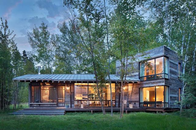 Дизайн-проекты. Домик у озера в современном деревенском стиле