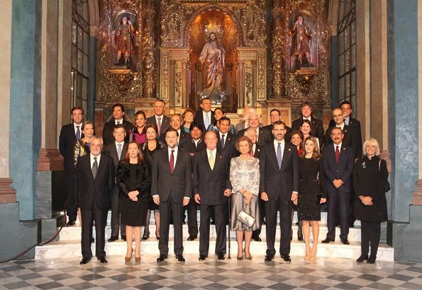 King Juan Carlos and Queen Sofia of Spain attended the opening ceremony of the XXII Ibero-American Summit of Head of States and Governments at the Teatro Falla in Cadiz