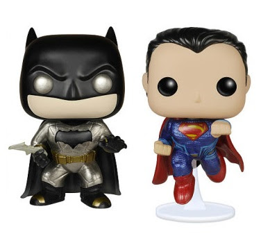 Toys R Us Exclusive Metallic Batman v Superman: Dawn of Justice Pop! Box Set by Funko