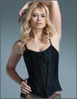 Women's Black Lace Corset