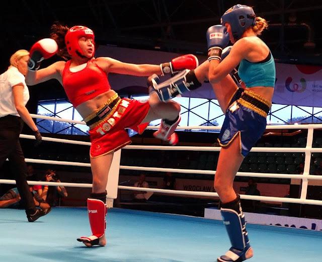 Melissa Martínez Aceves derrota a Ucrania en las semifinales del Kickboxing en Juegos Mundiales 2017