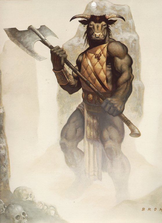 Beyond The World Know Your Mythology Creatures Minotaur