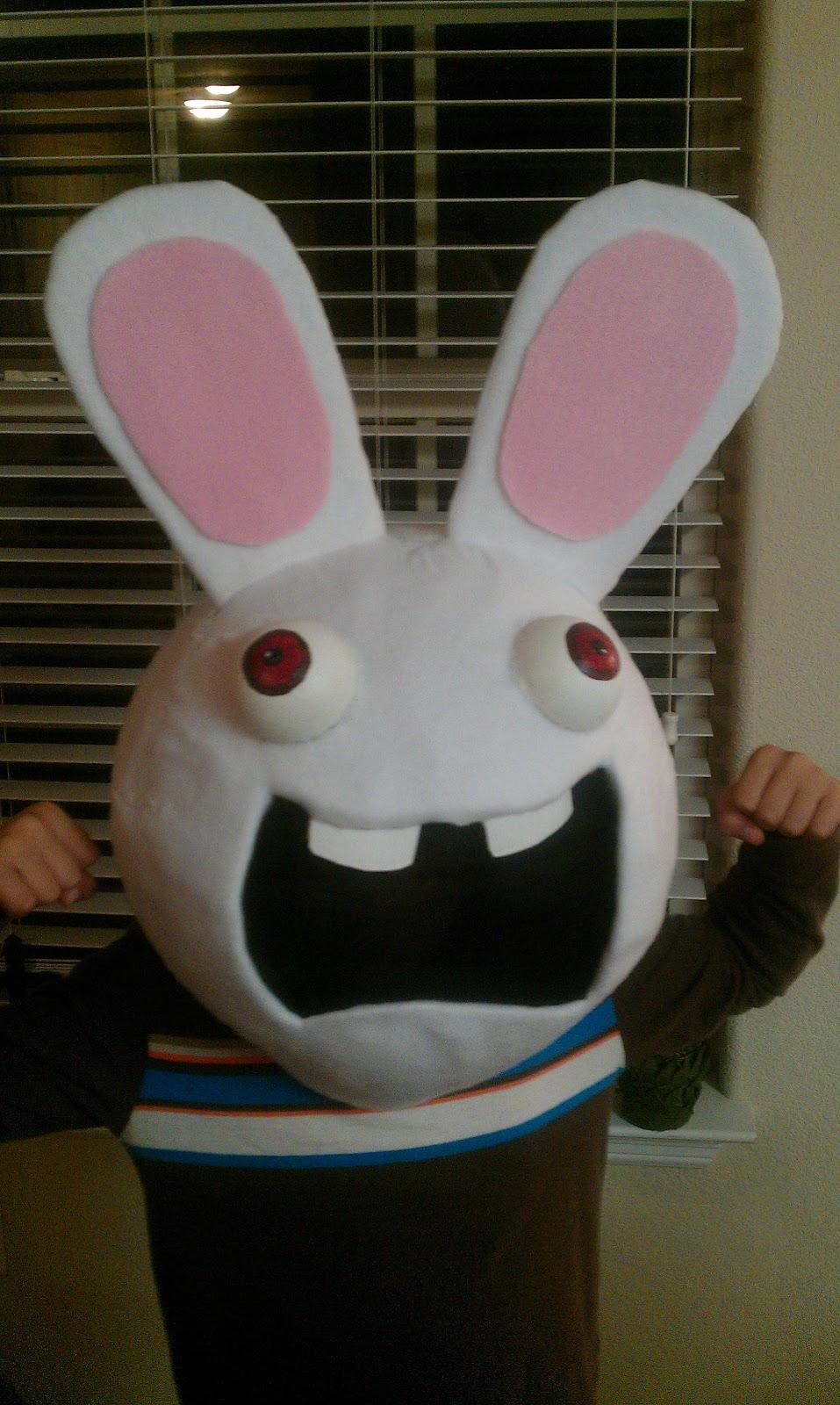 Spray Paint Mask >> MoonRuffle: The boychilds Raving Rabbid Costume