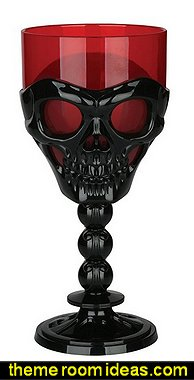 Black Skull Goblet  halloween table decorations