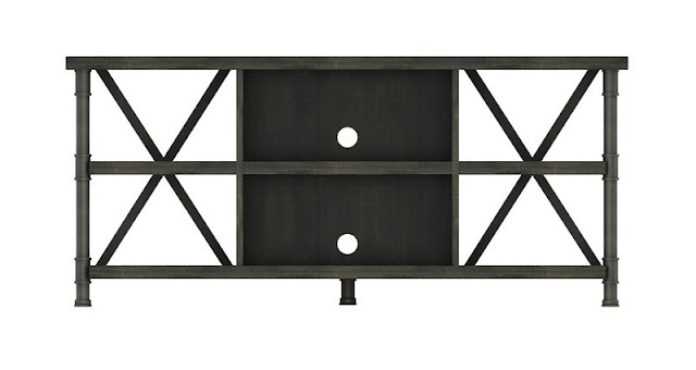 open TV stand with X