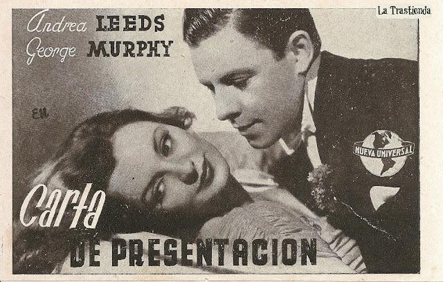Programa de Cine - Carta de Presentación (Horizontal) - Adolphe Menjou - Andrea Leeds - Ann Sheridan