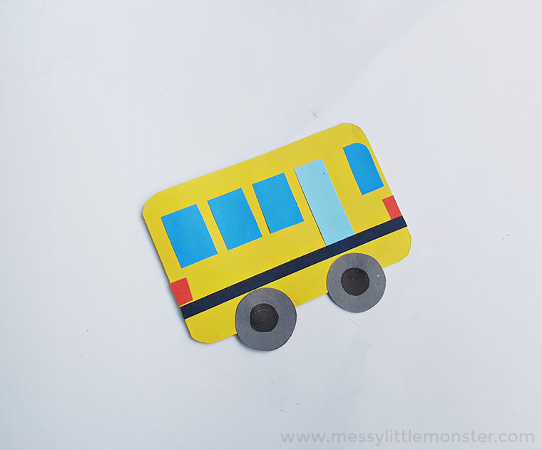 school bus craft for a transportation theme