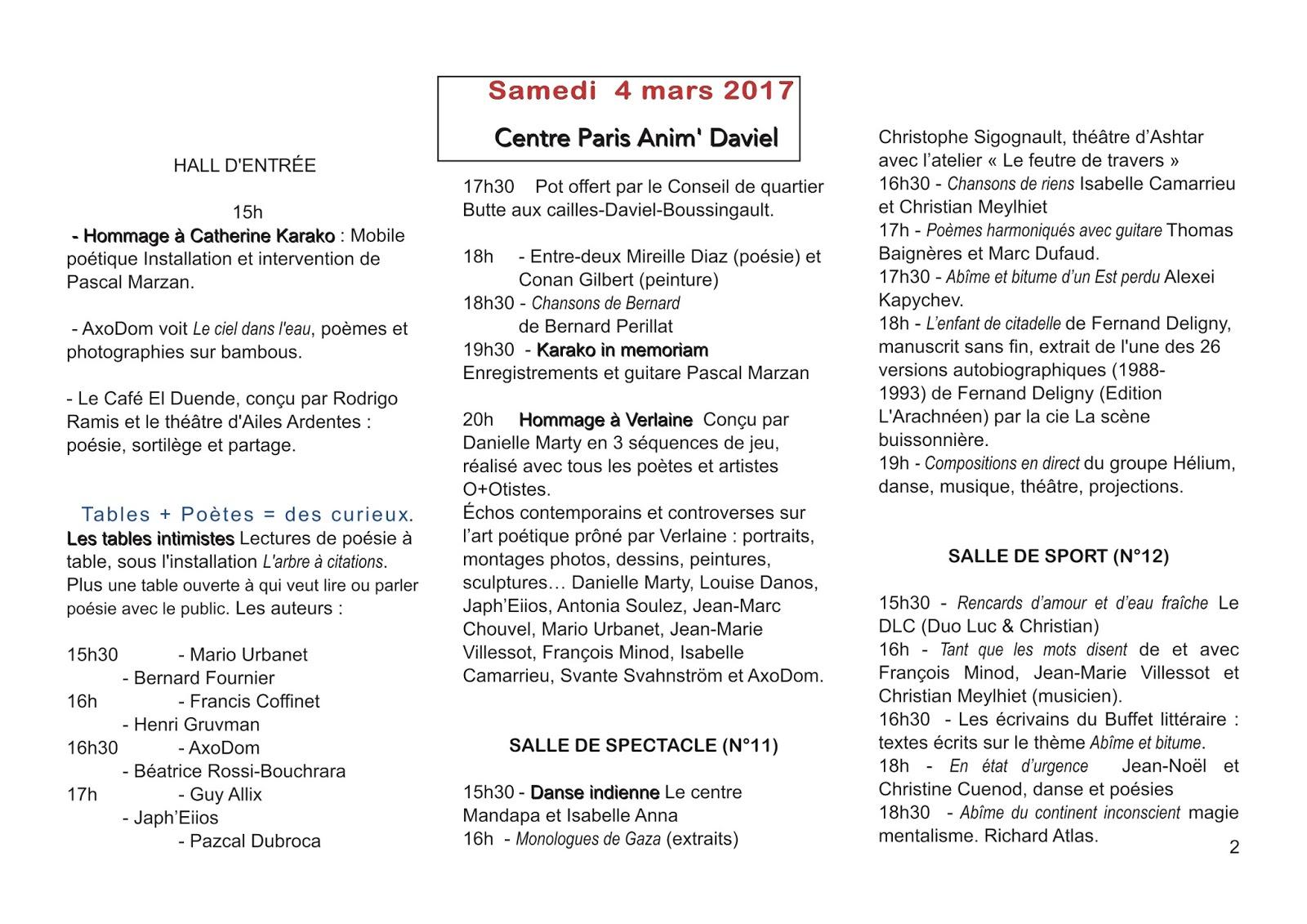 Les Armes Secrètes De La Poesie Février 2017