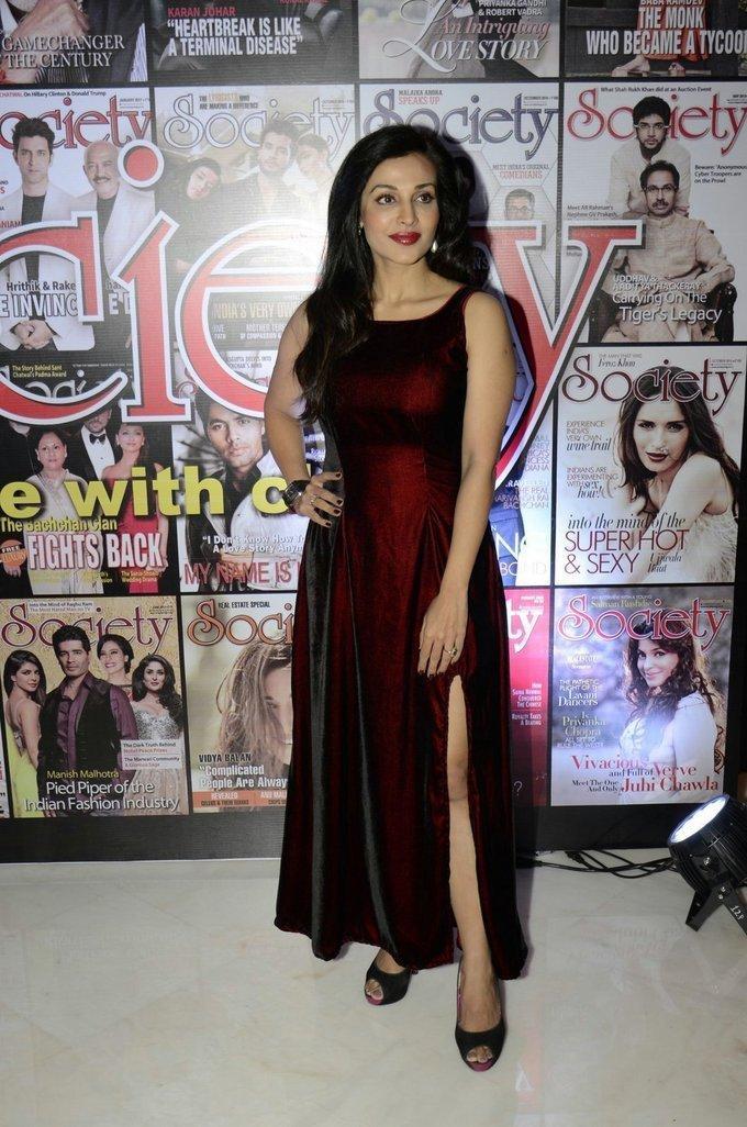Tamil Actress Asha Saini In Maroon Dress Society leadership Awards