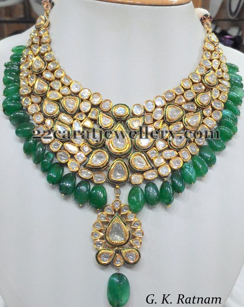 Kundan Jadau Necklace By Gk Ratnam Jewellery Designs