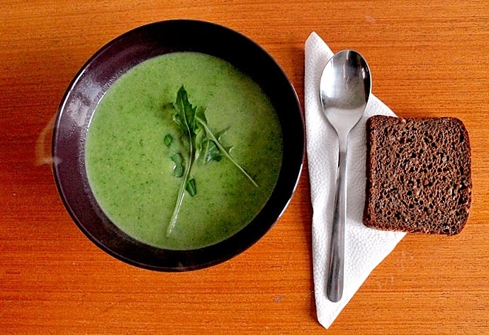 Gluten Free and Vegan Rucola Cream Soup