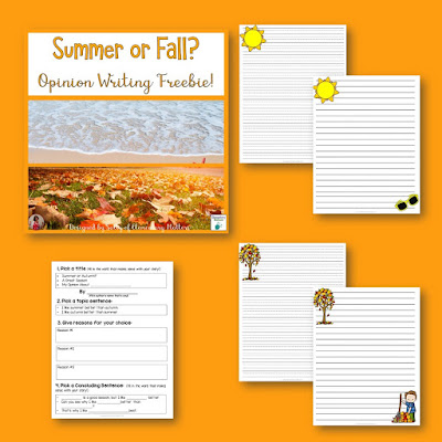 It's time to let go of summer, but hooray for Autumn: It's a great time of year! Here is a freebie, some book ideas, and resources to help your students enjoy the season!