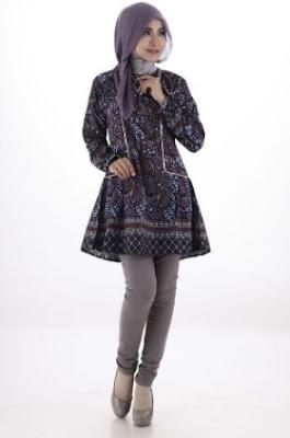 Batik casual hijab