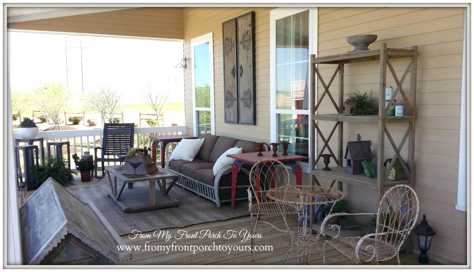Texas Farmhouse Porch-RoundTop Texas-Trendmaker Homes-From My Front Porch To Yours