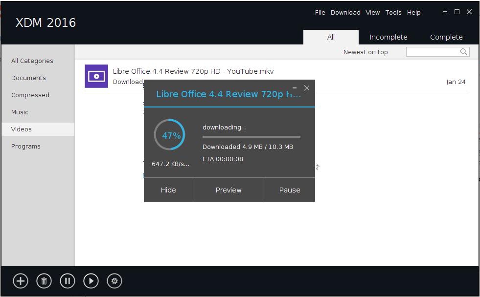 cara menggunakan xdm di linux untuk download video