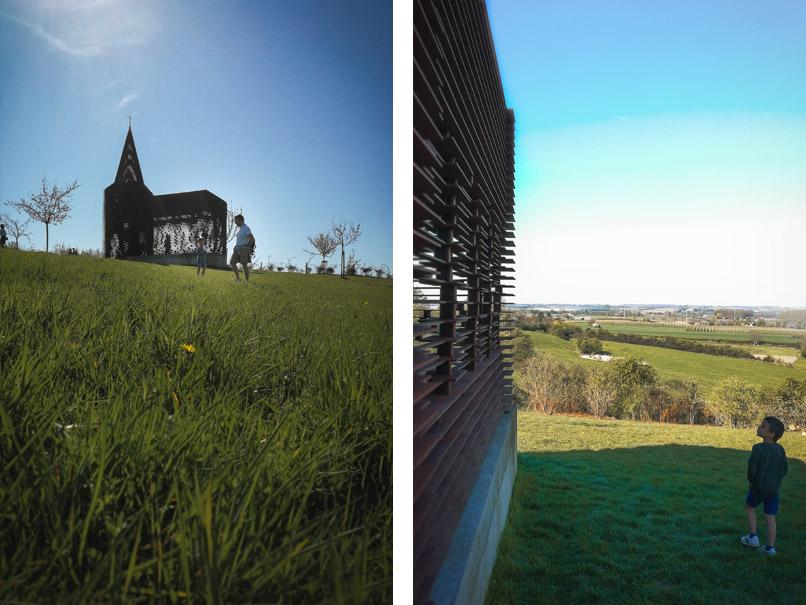 Wandeling Borgloon Doorkijk-kerkje