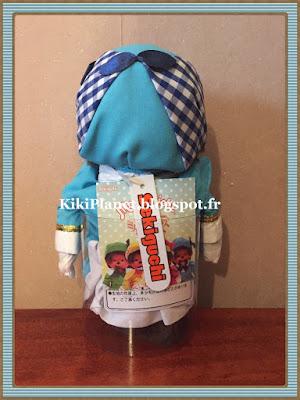 La Monchhichi Milky Holmes - Blue Cordelia  référence 741854, kiki, vintage, jouet, collection
