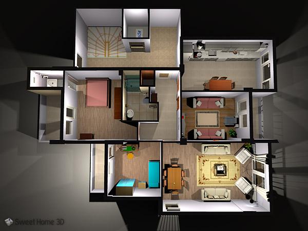 sweet home 3d 5 7 dibujar el plano de tu casa nueva o. Black Bedroom Furniture Sets. Home Design Ideas