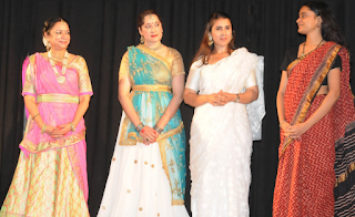 Artists Shruti Gupta Chandra, Supriya Sathe, Kartika Singh and Mrinalini at the stage.
