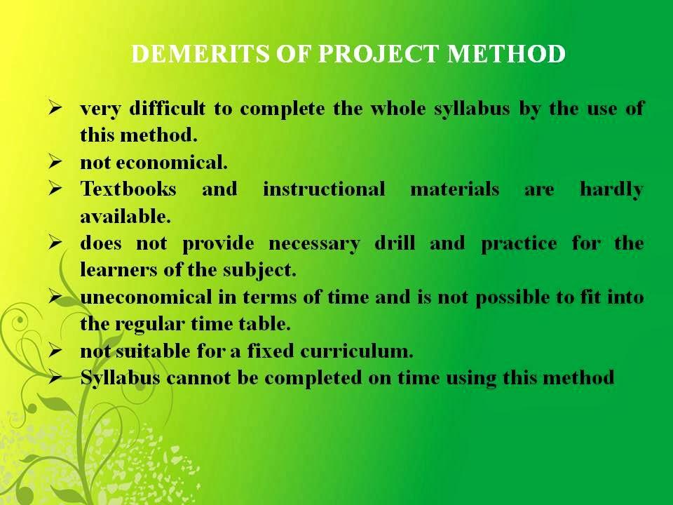 METHODS OF TEACHING MATHEMATICS: Module 10: Project Method