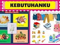 Download Banner Alat Peraga PAUD Tema Kebutuhan.cdr