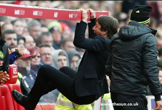 antonio conte celebration vs stoke