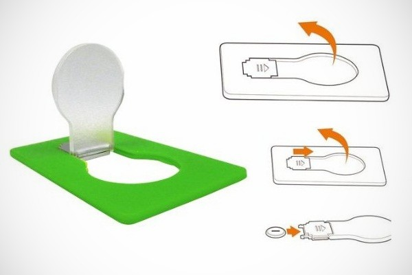 Doulex Credit Card-Sized Portable Flat Bulb for Wallets
