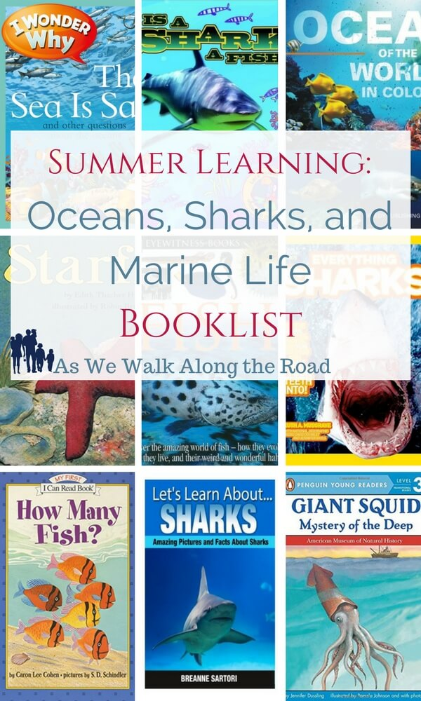 Homeschool books and resources for learning about sharks, fish, and other marine life