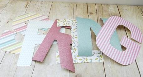 Confeccionar letras decorativas