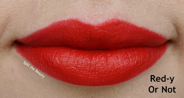 essence matt matt matt lipstick review swatches 5 red-y or not