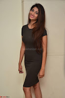 Priya Vadlamani super cute in tight brown dress at Stone Media Films production No 1 movie announcement 029.jpg