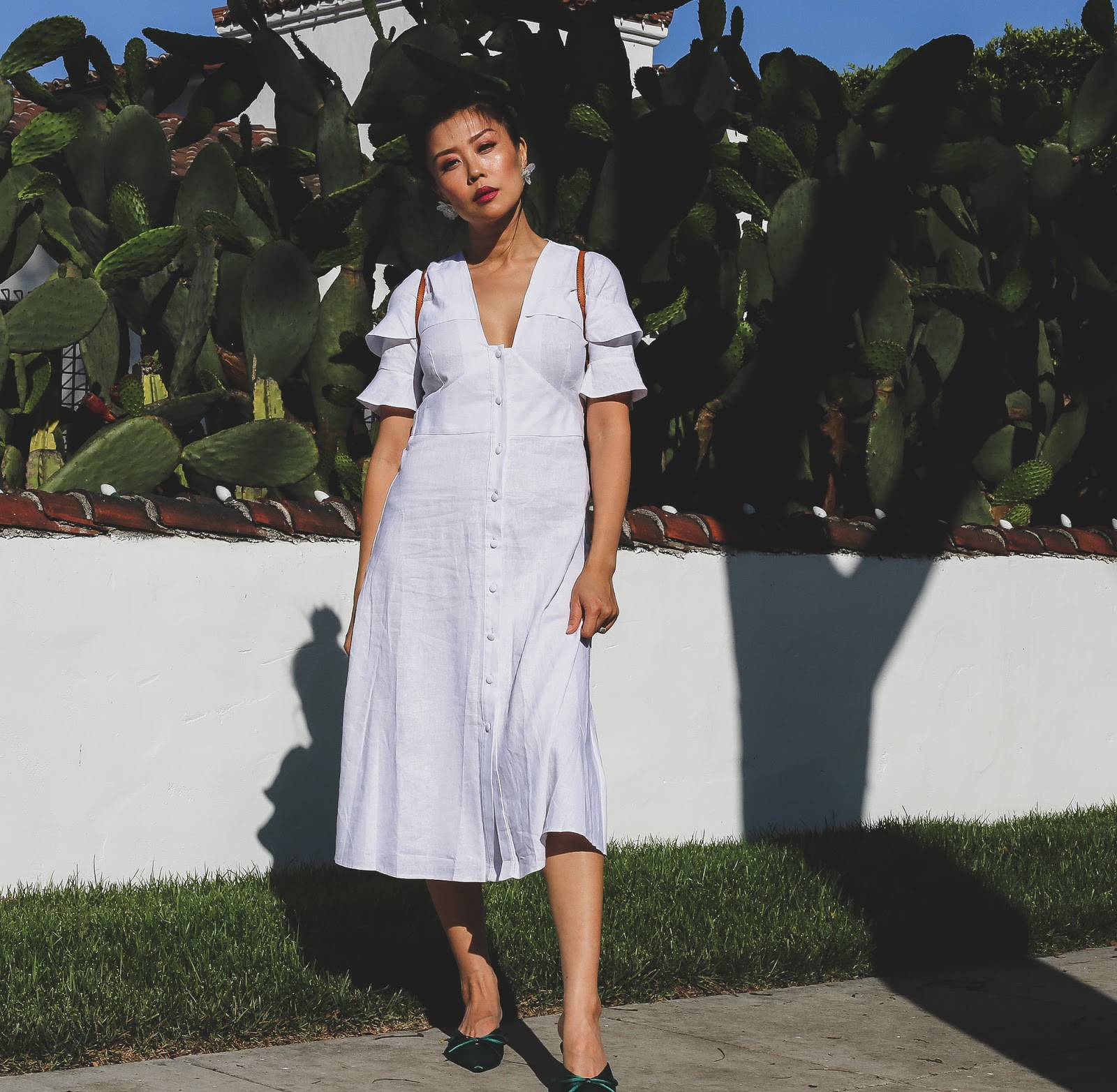 white midi dress outfit inspiration