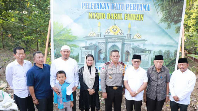 Letakkan Batu Pertama Pembangunan Masjid Darul Faidzin Selisun, Ini Pesan Gubernur Kaltara