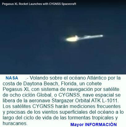 En plena acción misión de seguimiento de la NASA a huracanes y tormentas.