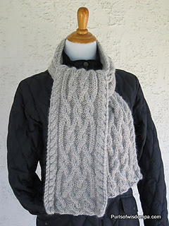 Celtic Cables Scarf from Purls of Wisdom PA http://www.ravelry.com/patterns/library/celtic-cables-scarf-3