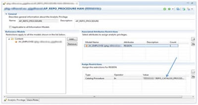 SAP HANA Dynamic Analytic Privileges