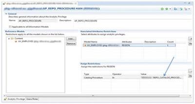 SAP HANA Dynamic Analytic Privileges