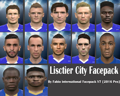 PES 2016 Leicester City Facepack by Facemaker Fabio