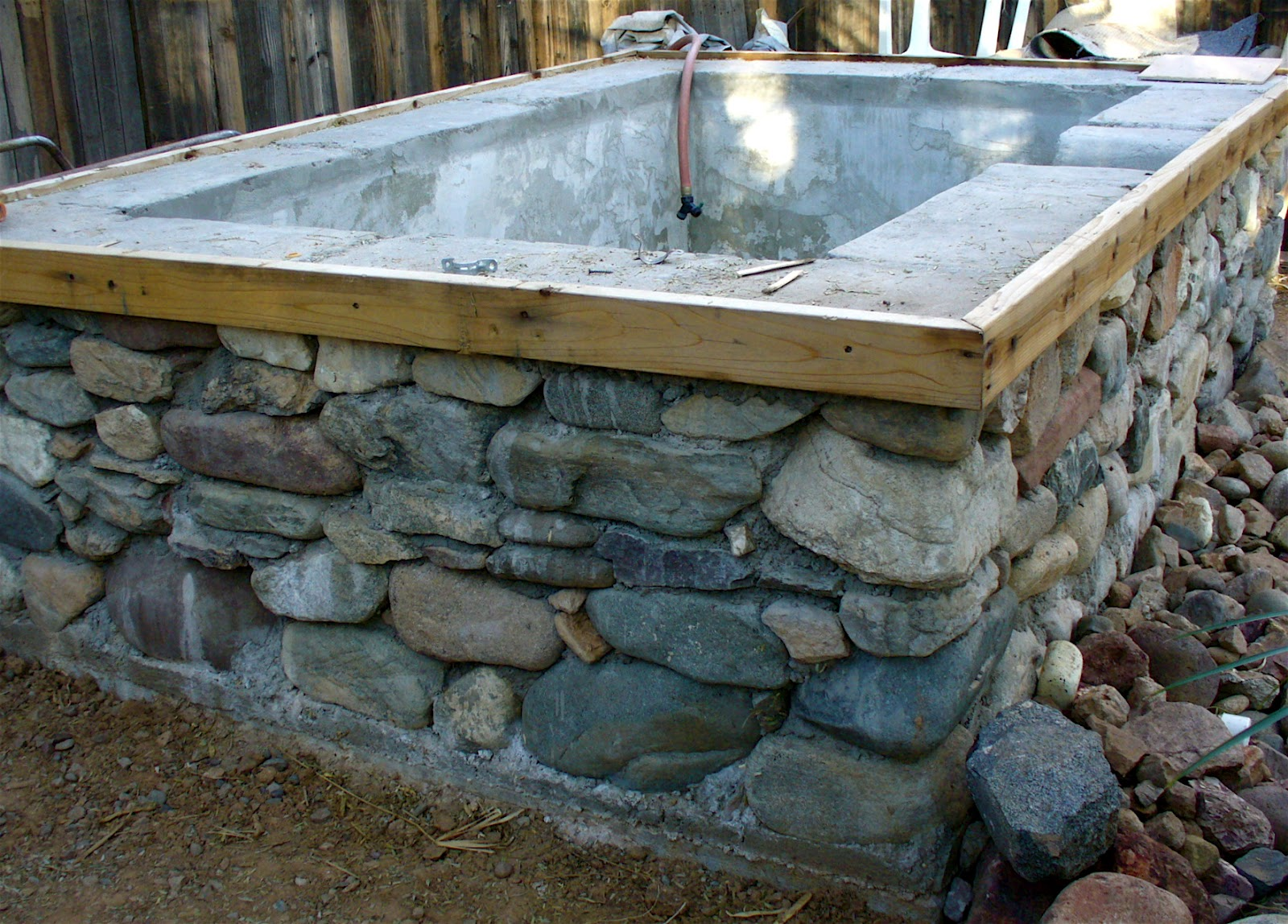 And More On The Stone Concrete Tub Made With Forms