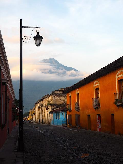 Dawn over Antigua, Guatemala
