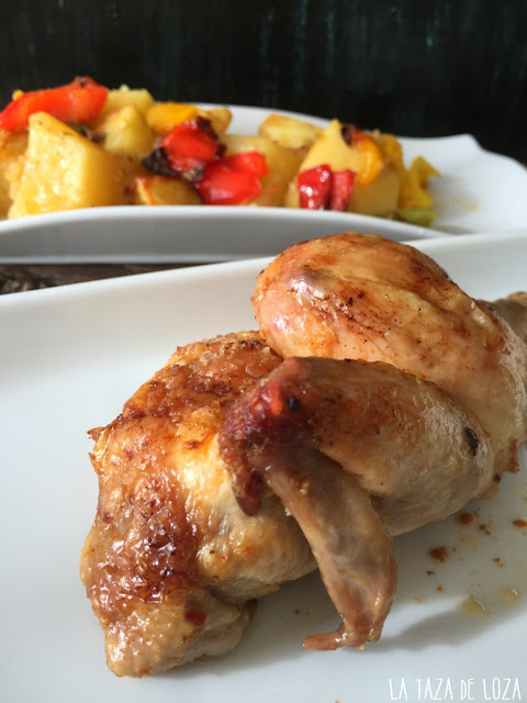 coquelet-con-salsa-harissa-patatas-al-horno
