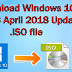 Download Windows 10 Pro 1803 x64 x32 bits April 2018 Update .ISO file